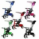 FoxHunter Child Kids Trike Tricycle 3 Wheel 4 In 1 Ride On Bike Parent Handle