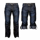 Dissident MZ21981A Mens New Versatile Denim Pants Jeans Adjustable Leg To Shorts