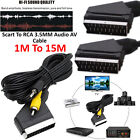Scart to 3.5mm Jack Plug RCA TV CD DVD VCR AV Audio Video Cable Lead 1m 2m 3m 5m