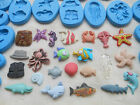 Sugarcraft/Fimo Mould: Undersea - Fish Crab Shells Lobster Dolphin Octopus Whale