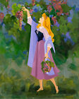 Disney Princess Aurora Sleeping Beauty Gathering Grapes Giclée on Canvas