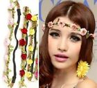 BOHO WOMEN GIRLS HAIRBAND HEADBAND FLORAL FLOWER BEACH FESTIVAL PARTY WEDDING