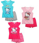 Girls Hello Kitty Pyjamas Short T Shirt Pyjama Sleepwear Set Pjs Age 4-10 Years