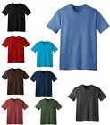 MEN'S LIGHTWEIGHT, V-NECK, PRESHRUNK COTTON, T-SHIRT, XS S M L XL 2X 3X 4X