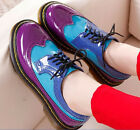 New Womens Oxford Shoes Mary Jane Lace-up Flats Platform Casual Roma Punk Shoes