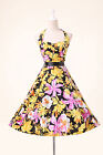 UK Pinup Vintage 50s 60s Retro Rockabilly Floral Party Prom Swing Cotton Dress