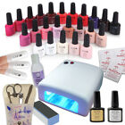 Best Value Professional CCO UV Nail Gel Starter Kit - FREE 10 CND Shellac Wraps