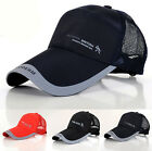 New Plain Baseball Cap Mesh Curved Visor Hat Adjustable Velcro Men Women