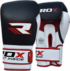 RDX Gel Leather MMA Boxing Gloves Fight Punch Bag Muay thai Grappling Pad BLK US
