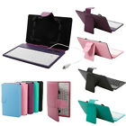 "Multi-Color 7"" Leather Case Cover Micro USB Keyboard for 7 inch Android Tablet"