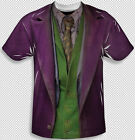 The Joker Costume Suit Heath Ledger All Over Front Sublimation Youth T-shirt Top