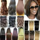 Good quality straight curly hair extensions pieces 5 clip in good as human hair