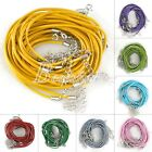 10pcs Leather Cord HOT Jewelry Making Necklace With Lobster 460/510mm Clasps