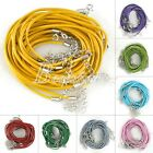 10pcs Leather Cord Wire Jewelry Making Necklace With Lobster Clasps 460/510mm