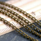 Bronze Black Copper Sterling Silver Plated Curb Link Chain necklace making c211