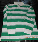 4826J New Timberland  Men's long Sleeve Rugby Stripe Polo Shirt Green  SZ S-2XL