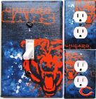 Chicago Bears Blue custom Light Switch wall plate covers man cave room decor