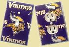 Minnesota Vikings custom Light Switch wall plate covers man cave room decor