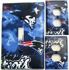 New England Patriots custom Light Switch wall plate covers man cave room decor