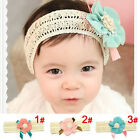 Lovely Baby Kids Girl Flower Toddler Headband Clips Soft Lace Headwear Hair Band