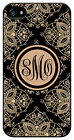 Personalized Monogram Royal Romance Black case for Iphone 4 4s 5 5s 5c M234