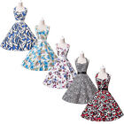 IN LONDON VINTAGE 50S 60S RETRO FLORAL ROCKABILLY PARTY SWING PROM EVENING DRESS