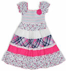 Girls Embroidered Pink Floral Gyspy Dress Kids Summer Dresses New Age 3-10 Years