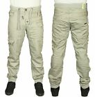MENS JEAN EM474 DESIGNER STONE CUFFED JOGGER ALL SIZES 28 TO 42