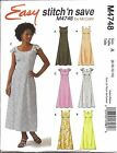 4748 UNCUT Vintage McCalls Sewing Pattern Misses Dress Lined Bodice Neck Variety