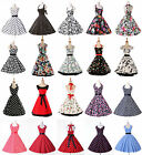 UK CHEAP 50s ROCKABILLY FLORAL PINUP EVENING COCKTAIL PARTY PROM SWING DRESS