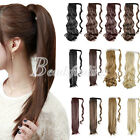 Fashion Women's Clip In Ponytail Pony Tail Hair Extension Wavy Straight Style