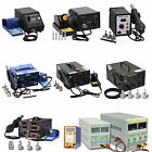 Professional Soldering Iron Station Stand Hot Air Gun Kit DC Power Supply
