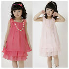 Cool2day Fashion Girl Kids Clothes  Dresses Sleeveless Dress Sz 4-8Y Dress Skirt