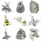 Bee Sterling Silver Charms .925 X 1 Bees Buzzy Honey Bumble Charm