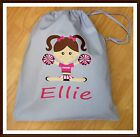 PERSONALISED GIRLS CHEERLEADER CHEERLEADING PE PUMP GYM SCHOOL DRAWSTRING BAG