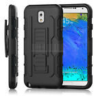 Black Rugged Hybrid Future Armor Impact Hard Case Belt Clip Holster Stand Cover