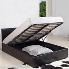 New - Hf4you 3ft Single Faux Leather Michigan Ottoman Storage Bed - Black/Brown