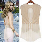 HOT Fashion Women's Sleeveless Casual Chiffon Shirt Summer Cool Sexy Blouse Tops