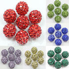 10/20Pcs Czech Crystal Rhinestones Pave Clay Round Disco Ball Spacer Beads 10mm