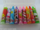 PACK OF 9 SMALL KAWAII JAPANESE STYLE NOVELTY CRAYON ERASERS RUBBERS UK SELLER