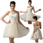 Flower Girl Organza Short Dress Bridal Wedding Cocktail Party Prom Evening Dress