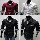 mens designer shirts Long Sleeve Tops Formal Shirt Casual Slim Fit Dress Shirts