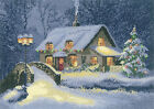Heritage Crafts Christmas Cottage Counted Cross Stitch Kit