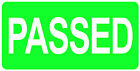 Passed Stickers Labels Red Orange Green Failed Hold 20 X 40mm