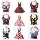 FLORAL/Cherry NEW 1 Rockabilly Vintage Swing Evening 50s Retro Pin Up Prom Dress