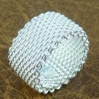 2014 New Gift Fashion Jewelry 925 Silver Plated Flexible Net Ring Size 6/7/8/9
