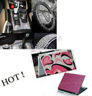 Hot Colorful Car Interior Exterior Bling Crystal Diamond Decorate Sticker DIY