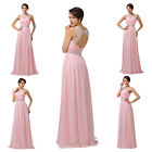 Long Chiffon Satin Homecoming Evening Formal Party Prom Bridesmaid Bridal Dress