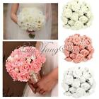 50X Colourfast Foam Rose Artificial Flower Wedding Bride Bouquet Party Decor DIY