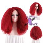 """18""""-28"""" Long Spiral Curly Red Lace Front Wig Heat Resistant"""